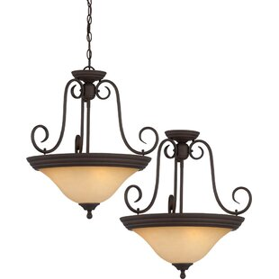 Troy 3-Light Pendant or Semi Flush Mount by Volume Lighting