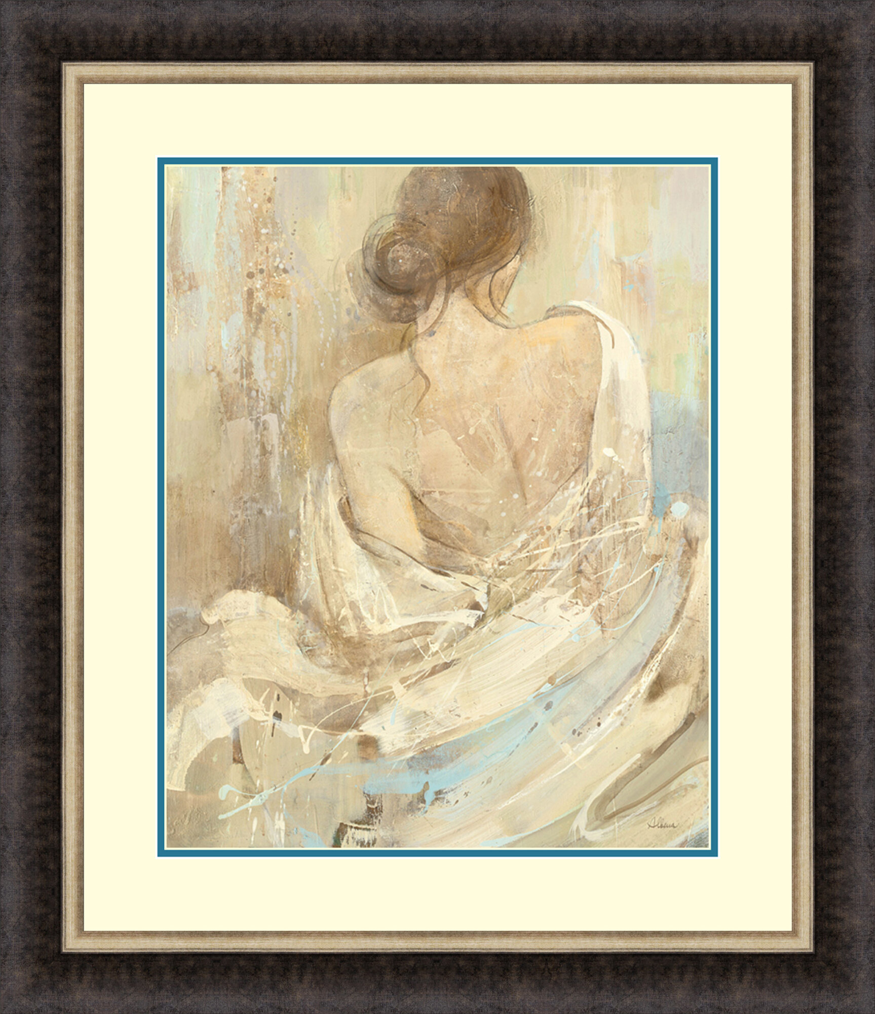 Tangletown Fine Art Abstract Figure Study I By Albena Hristova Framed Painting Print Wayfair