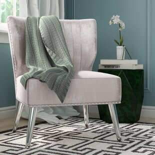 Rosdorf Park Hale Nail Headed Upholstered Wingback Chair