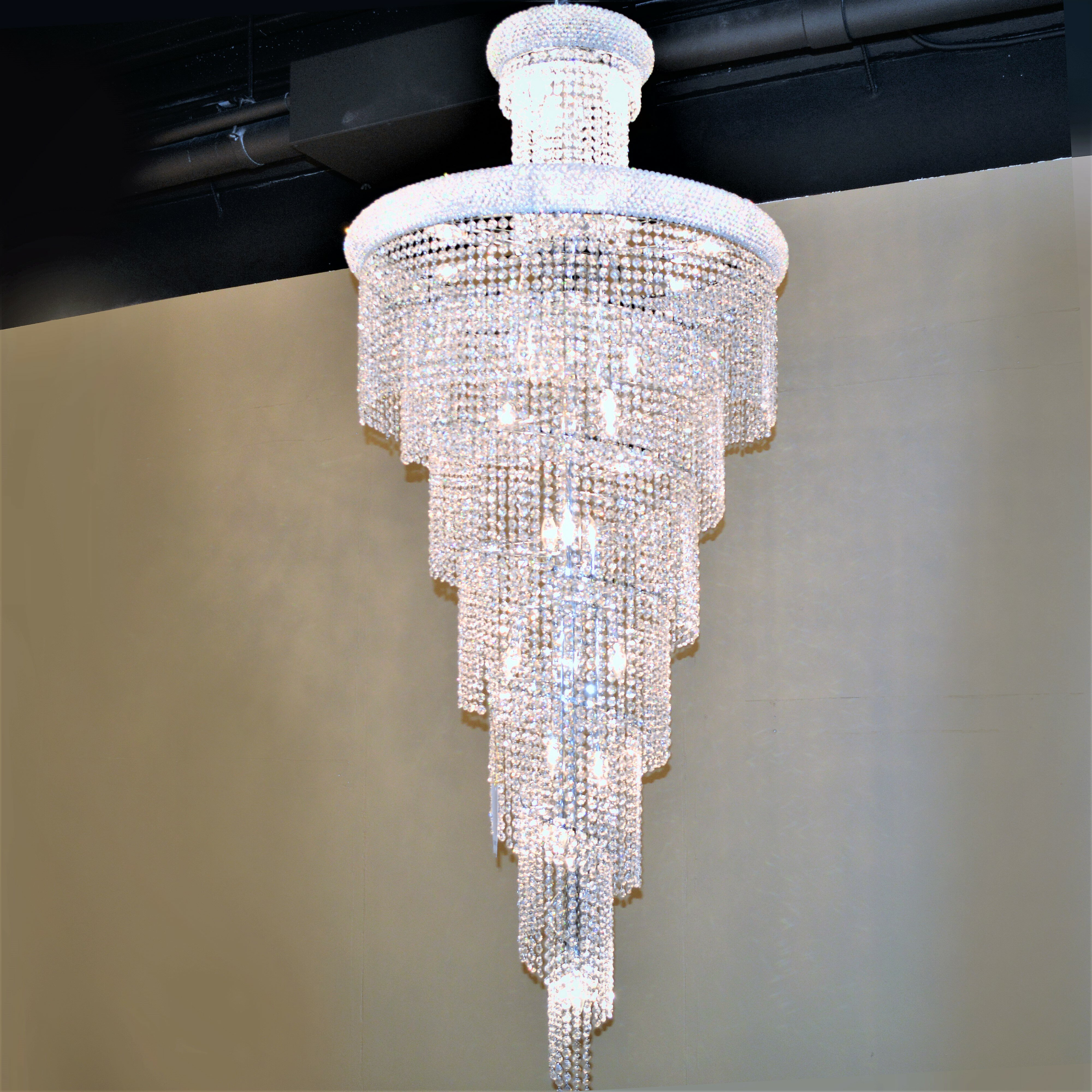 Lights & Lighting Chandeliers Lovely Large Spiral Crystal Chandelier Led Suspension Luminaire Lights For Living Room Chandelier Lighting Stairway Gold Led Chandelier Convenient To Cook