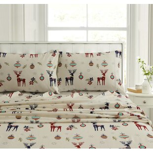 Underwood Reindeer Flannel Sheet Set