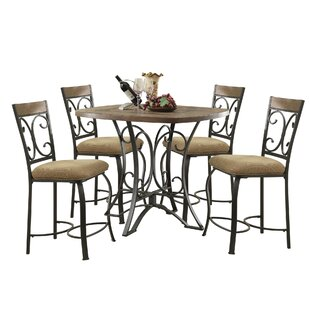 Bock 5 Piece Counter Height Dining Set by Fleur De Lis Living