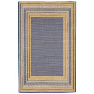 Clatterbuck Etched Blue Indoor/Outdoor Area Rug