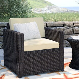 Coupon Belton Outdoor Wicker Deep Seating Chair with Cushion By Mercury Row