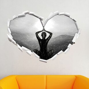 Yoga And Meditation In The Mountains Wall Sticker By East Urban Home