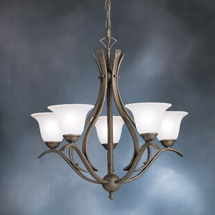 Alcott Hill Cayman 5-Light Shaded Chandelier