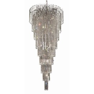 Westrem 15-Light Crystal Chandelier by Ho..