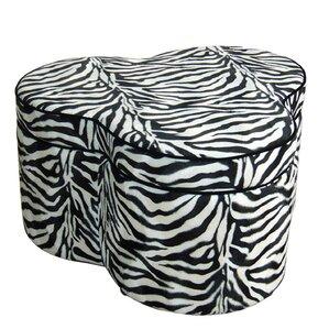 Zebra Storage Ottoman with..