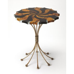 Geiser Pinwheel Pen Shell End Table by Brayden Studio