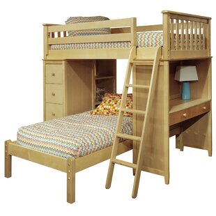 Best Reviews Bonneau Twin Over Twin Bed with Lower Platform By Harriet Bee