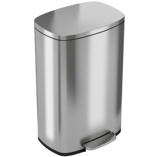 iTouchless Soft Step Stainless Steel Kitchen 13.2 Gallon Step On Trash Can