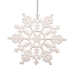Glitter Snowflake Christmas Christmas Ornament (Set of 12)