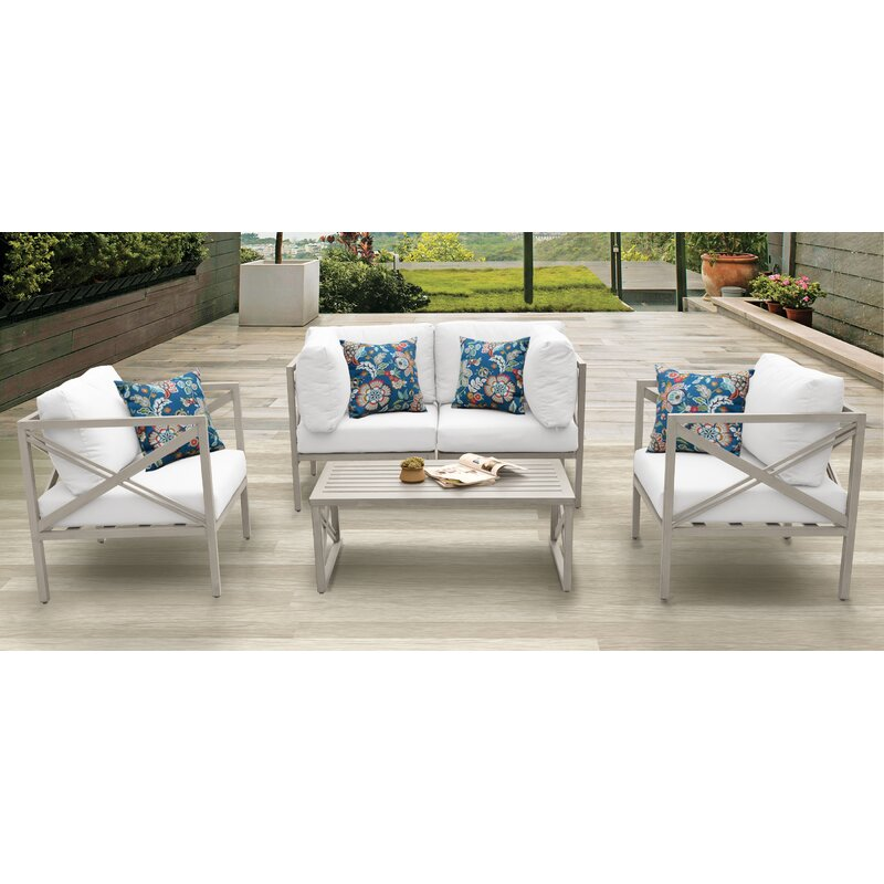 Carlisle Outdoor 5 Piece Sofa Seating Group With Cushions