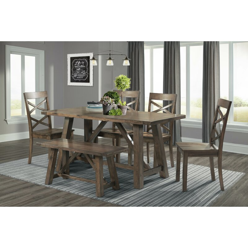 Dining Sets For 6: Laurel Foundry Modern Farmhouse Bailee 6 Piece Dining Set