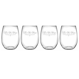 Three Wise Women 4-Piece Assorted Glassware Set (Set of 4)