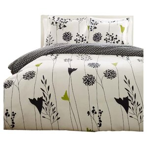 asian lily reversible duvet cover set - Floral Duvet Covers
