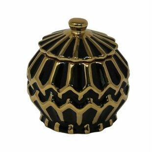 Ceramic Covered Storage Jar