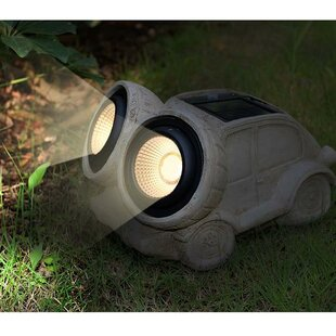 Myfuncorp Car Solar Color Changing Spot Light