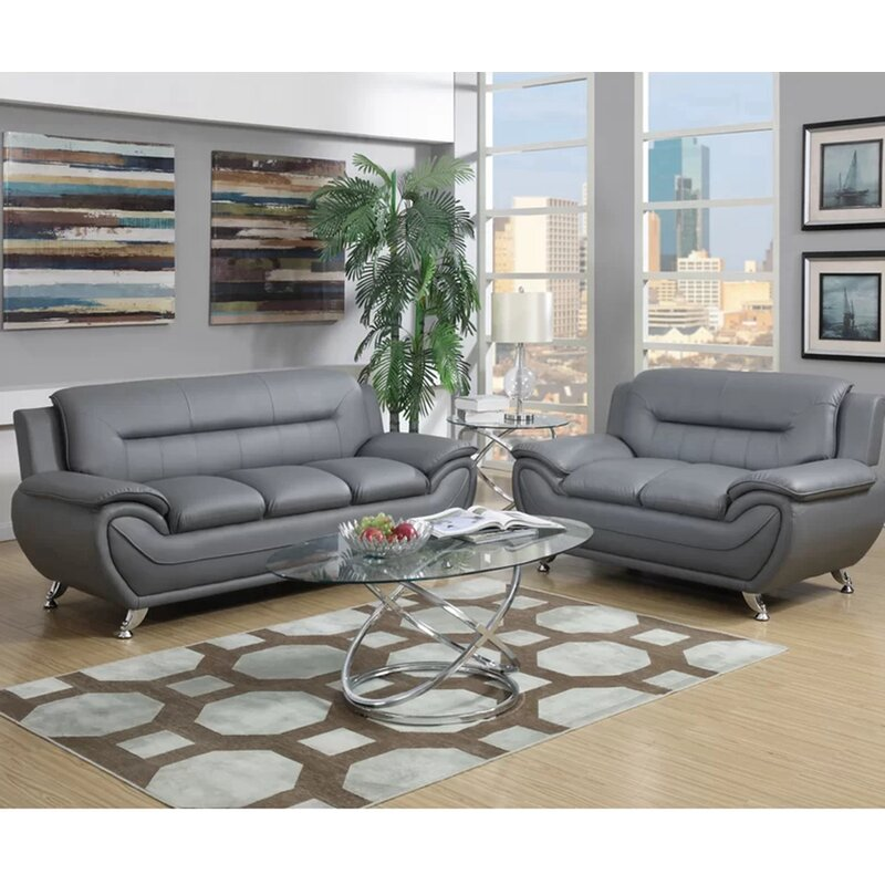 Orren Ellis Stapp Modern Configurable Living Room Set
