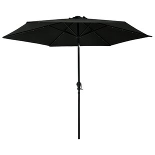 Kirsten 3m Traditional Parasol With Lights By Freeport Park