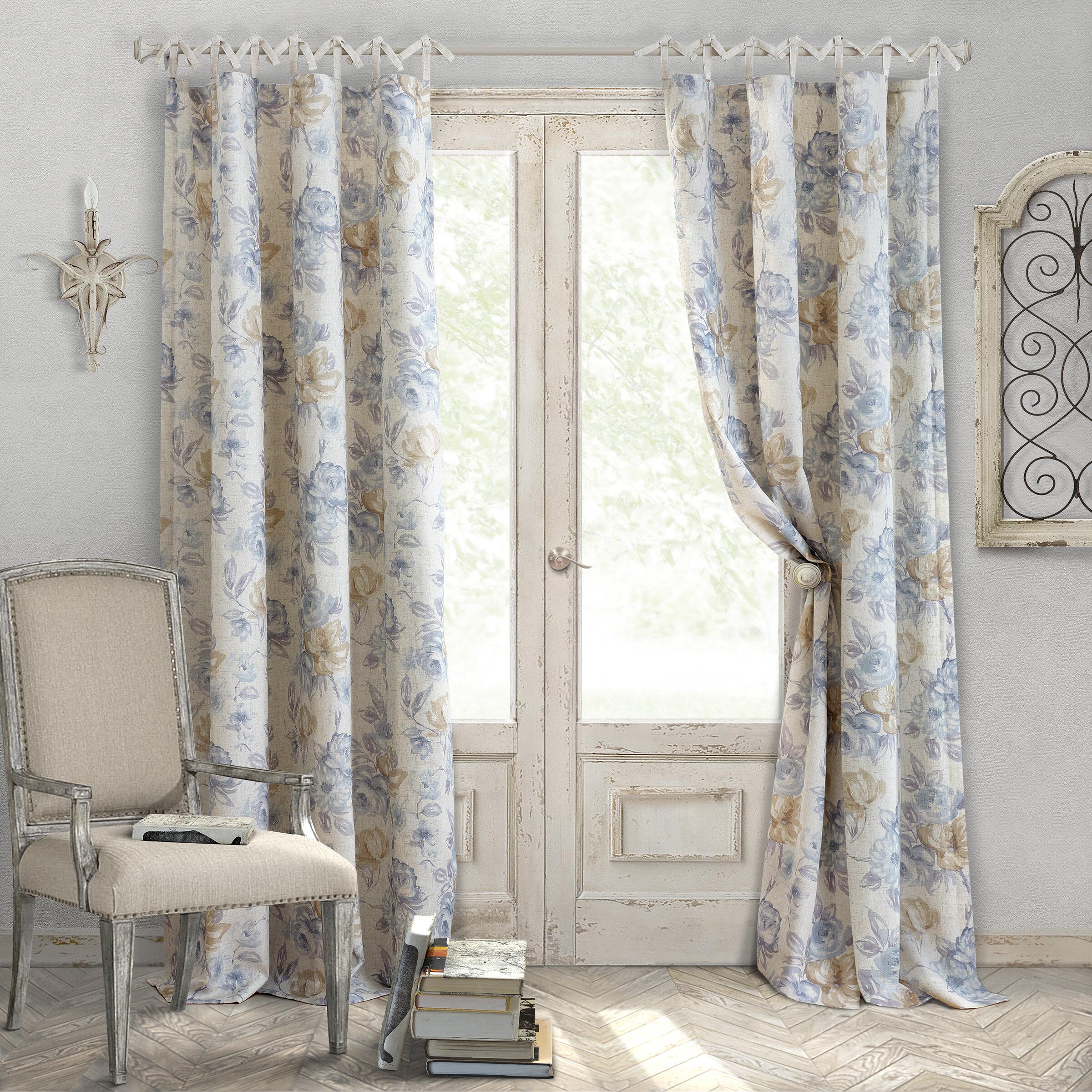 kitchen floral amazon home astoria curtain pair curtains panels greenland com window panel dp