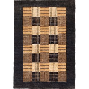 Buy luxury One-of-a-Kind Julio Ziegler Chobi Hand-Knotted 6'3 x 8'9 Wool Black/Brown/Beige Area Rug By Isabelline