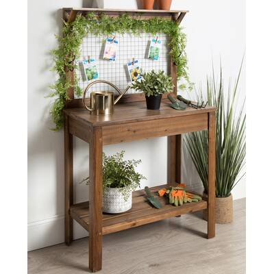 Super Potting Benches Tables Youll Love In 2019 Wayfair Ibusinesslaw Wood Chair Design Ideas Ibusinesslaworg