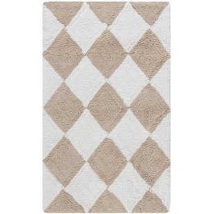 Chalk Geometric Bath Rug (Set of 2)