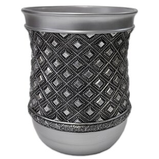 Sweet Home Collection Diamond Bathroom Waste Basket