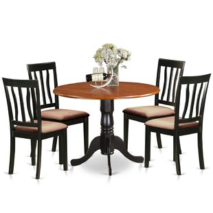 5 Piece Extendable Dining Set by East West Furniture Find