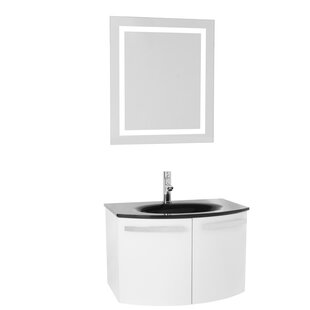 Crystal Dance 28 Single Bathroom Vanity Set with Mirror by Nameeks Vanities