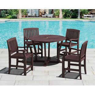 Royal Teak by Lanza Products 5 Piece Bar Height Dining Set
