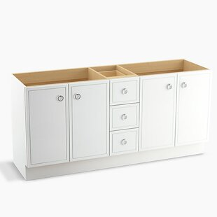Jacquard? 72 Vanity with Toe Kick, 4 Doors and 3 Drawers, Split Top Drawer by Kohler