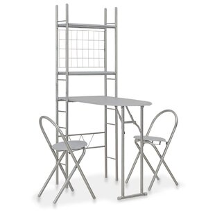 Aces Folding Dining Set With 2 Chairs By 17 Stories
