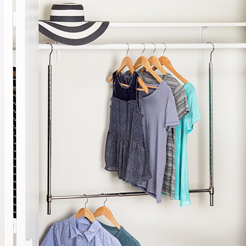 Honey Can Do Adjustable Hanging Closet Rod Amp Reviews Wayfair