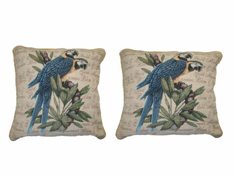 Dada Bedding Parrots In Love Elegant Novelty Woven Throw Pillow Wayfair