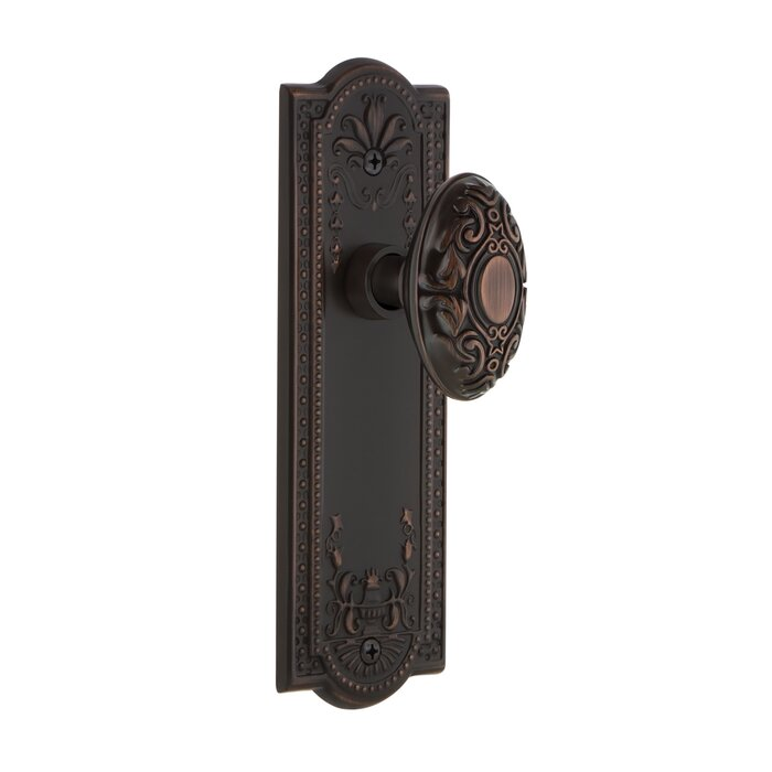Victorian Double Dummy Door Knob With Meadows Plate