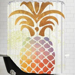 Ikonolexi Pineapple 1 Single Shower Curtain