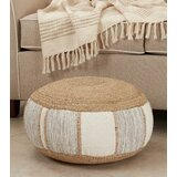 Woodford 20'' Round Stripe Pouf Ottoman by Bungalow Rose