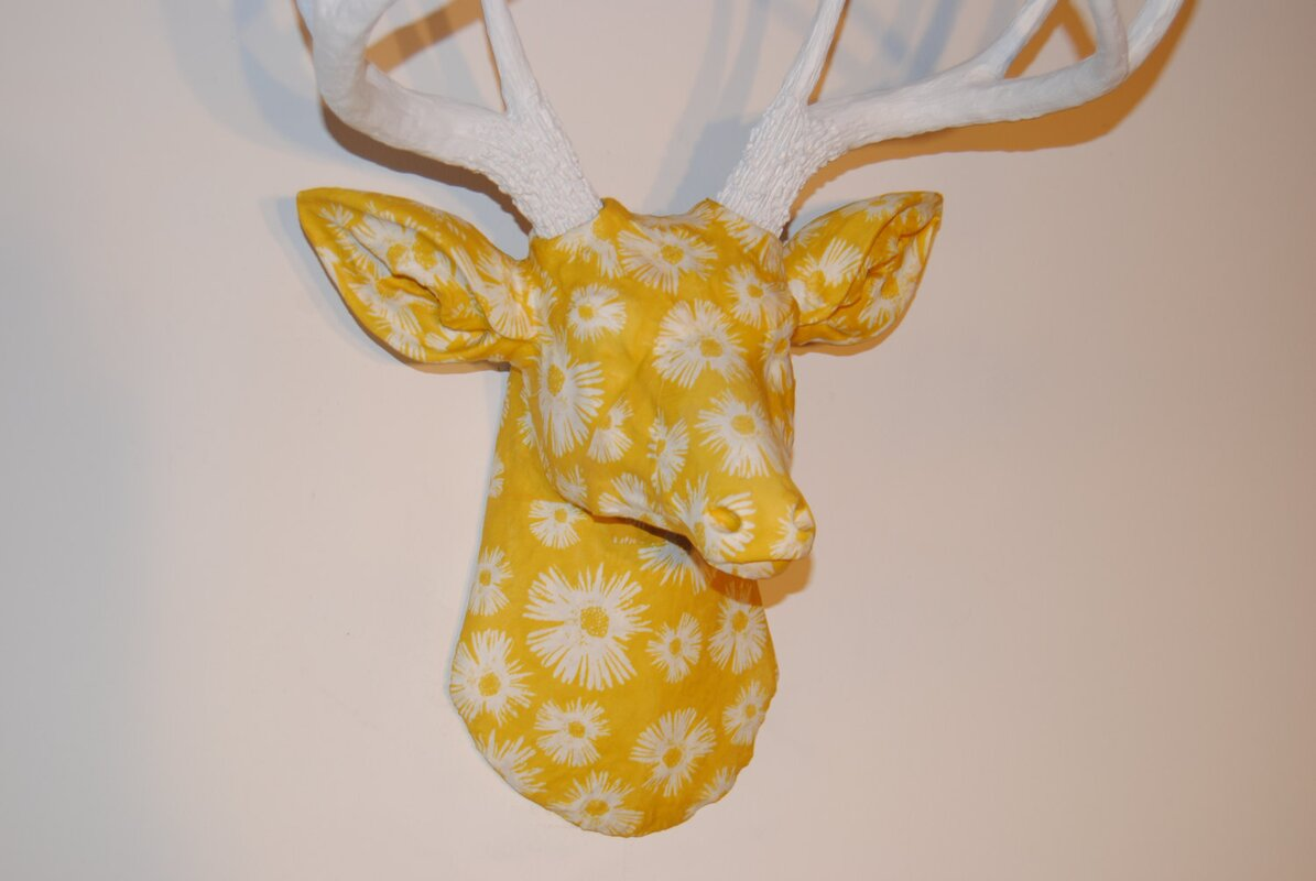 Bungalow Rose Faux Taxidermy Authentic Fabric Deer Head Wall Décor ...