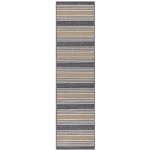 Roby Stripe Blue/Gray Indoor/Outdoor Area Rug
