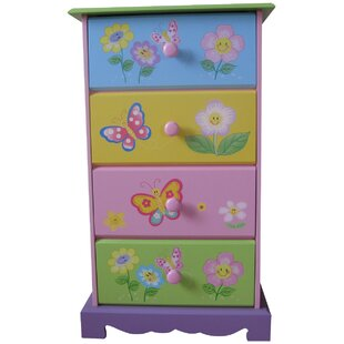 Butterfly Garden 4 Drawer Chest of Drawers by Liberty House Toys