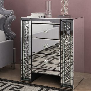 Lasater Crystal 3 Drawer Nightstand by Rosdorf Park