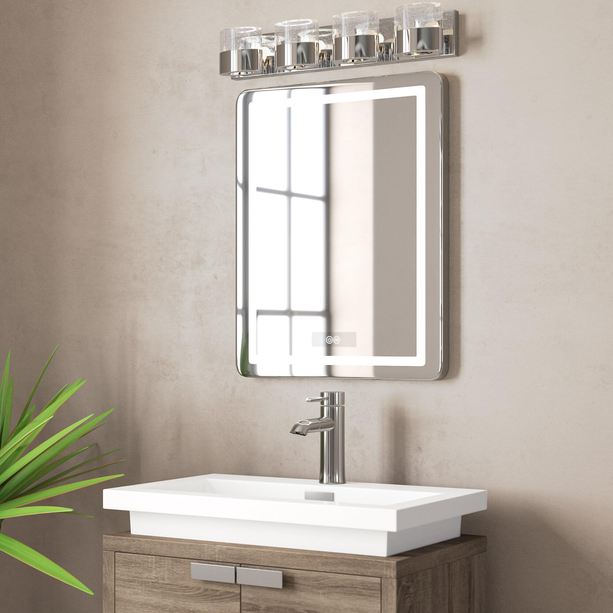 Orren Ellis Bodine Back Lit Daylight Bathroom Mirror Wayfair