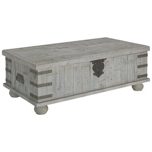 Gracie Oaks Altair Trunk Coffee Table with Lift Top