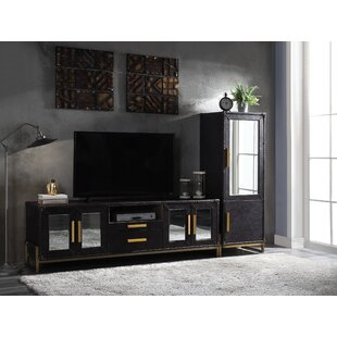 Levy Top Grain Leather Entertainment Center for TVs up to 55 by 17 Stories