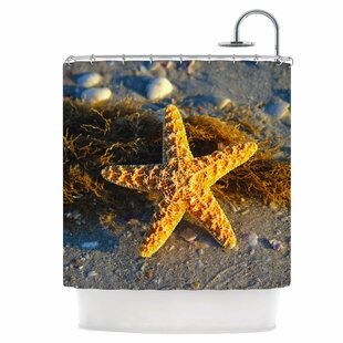 Starfish Single Shower Curtain