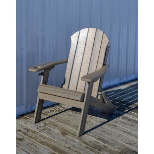Seaside Plastic Folding Adirondack Chair by Longshore Tides
