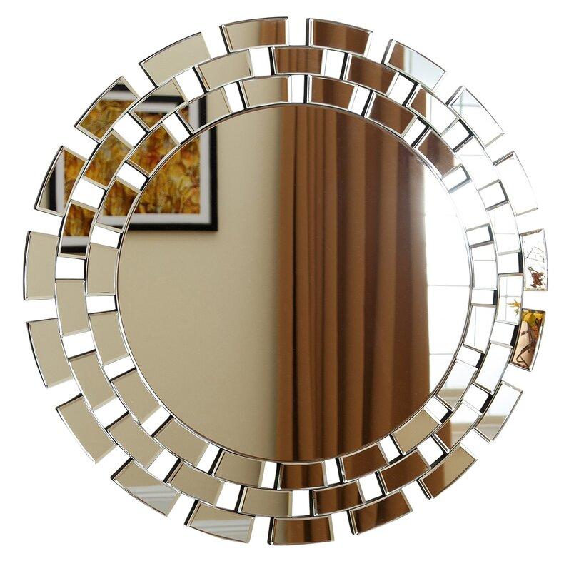 Wall Mirror Round zora round oversized wall mirror & reviews | joss & main