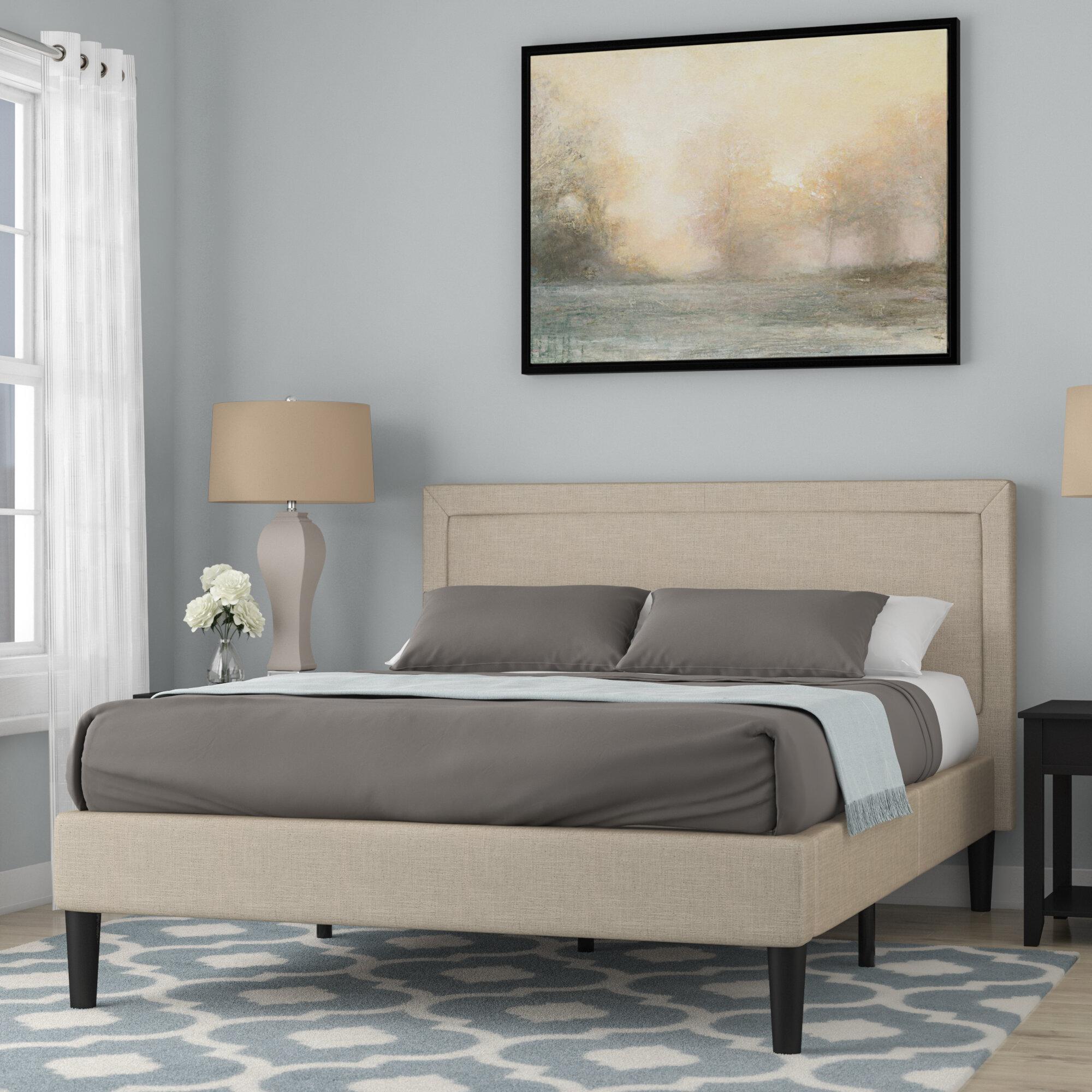 headboard with metal platform king modern beds floating pedestal bed low nightstands style japanese